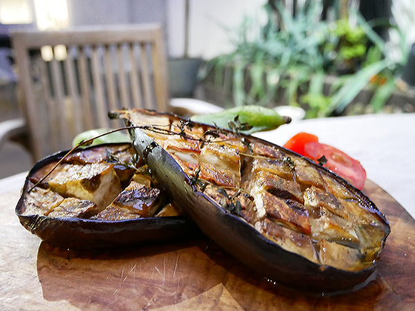 GRILLED EGGPLANT WITH HERBS